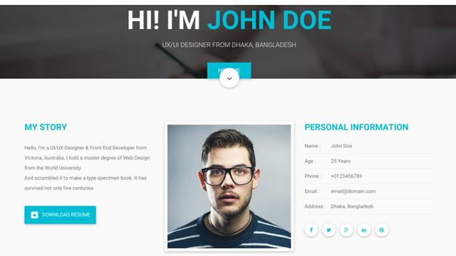 how to make my personal website