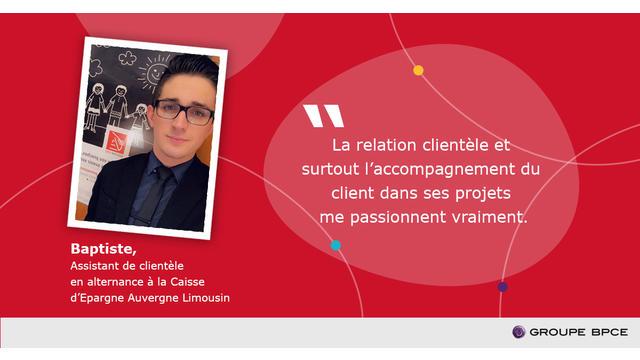 Interview De Baptiste Alternant A La Caisse D Epargne Auvergne