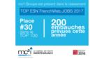 mc2i Groupe figure au classement des ESN qui recrutent en 2017