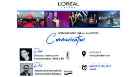 Chat vidéo : les métiers de la communication chez L'Oréal